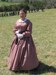 Kathy Lutz in Civil War attire.