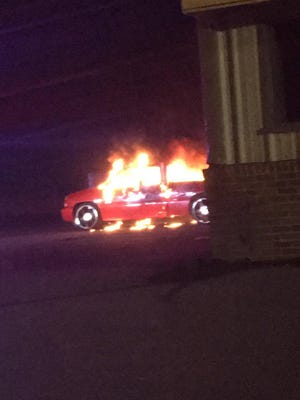 A truck was on fire late Wednesday night on West 41st Street. Police are still investigating the cause.