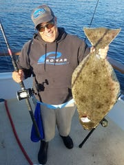 Kevin Brannon from Port Hueneme caught a 17-pound halibut aboard the Aloha Spirit.