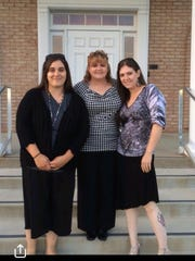 Corisa Welch of Mansfield found her three half sisters in 2017. Left to right are: Sarah Cupp, Tracy Fellure Nesselrotte and Amy Force; and not shown, she found her biological father, the late Richland Ed Fellure of Bellville. Submitted photo