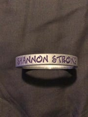 """Shannon Strong"" bracelets were sold earlier this year"