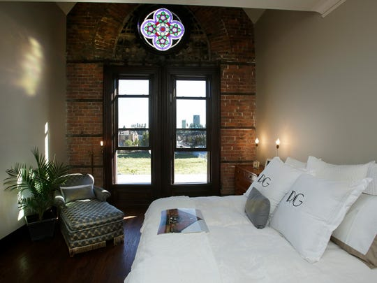 The master bedroom inside the front portion of the