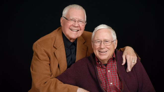 Ken Hoole and Tim Sagen celebrate their 50th anniversary.