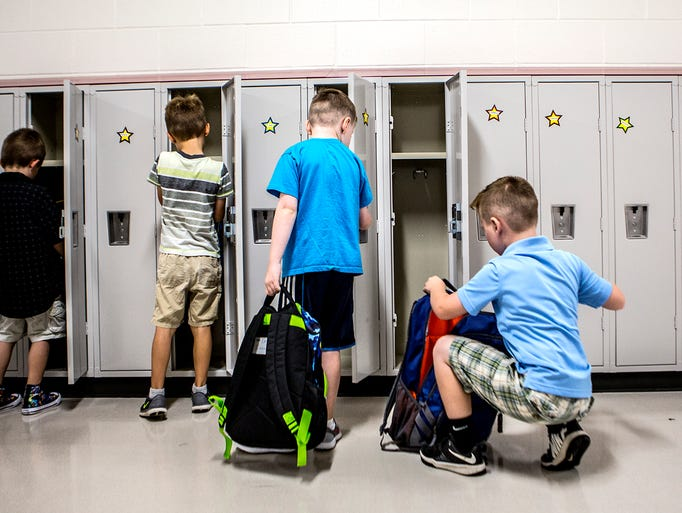 Johnstown Elementary students got to walk into a brand