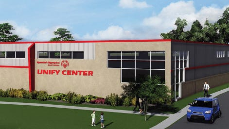 Artist rendering of the Unify Center for Special Olympics South Dakota. Construction expected to be completed in June 2016.