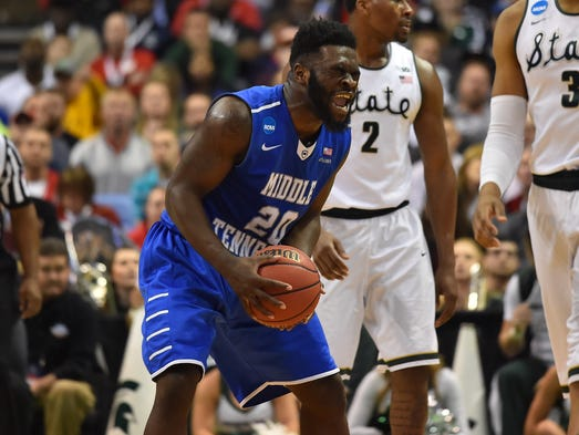 2016: 15th-seeded Middle Tennessee's stunning upset