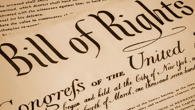 The first 10 amendments of the U.S. Constitution are known as the Bill of Rights.