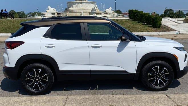 The 2021 Chevrolet Trailblazer SUV on Belle Isle in Detroit.