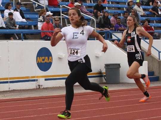 Eden's Dustee Hoelscher won the 400 meter run at the Region II-1A Track and Field Championships at Angelo State last month.
