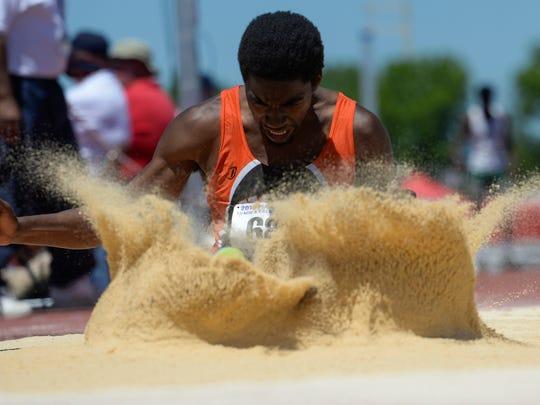 York Suburban's Phillip Marshall won last year's YAIAA long jump title.