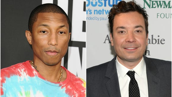 Pharrell Williams and Jimmy Fallon battled it out on