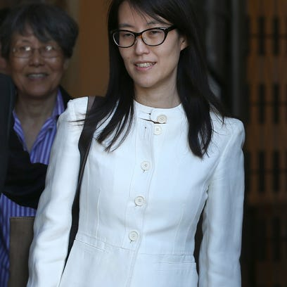 Ellen Pao leaves the San Francisco Superior Court Civic