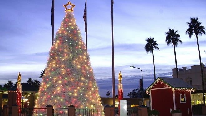 When completed, Chandler's tumbleweed tree is 35 feet tall. The tradition is in its 60th year.