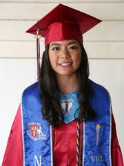 """Okkodo High School Class of 2015 Salutatorian Odeth Ignacio. """"Find what you love and live your life, without  forgetting to have fun. To quote Steve Jobs: 'Stay hungry. Stay foolish.'"""""""