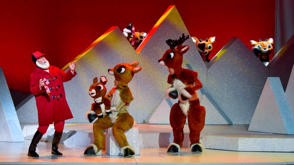 """Rudolph the Red-Nosed Reindeer: The Musical"" continues Wednesday at the Plaza Theatre, Downtown."