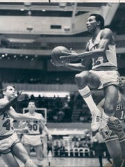 Dave Bing, when he was with the Detroit Pistons, and before he became mayor of Detroit.