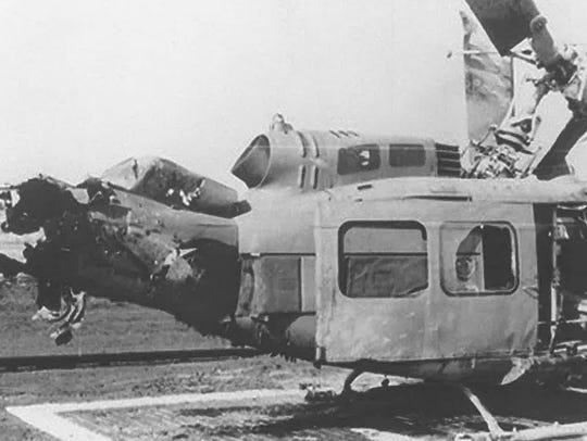 The helicopter that Floyd Stringer was flying in was