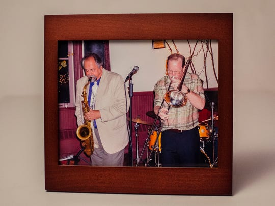Joe Lovano (left) and Dan Silverman play in 2012 at the wedding reception for Silverman's daughter at the Hinesburg Town Hall.