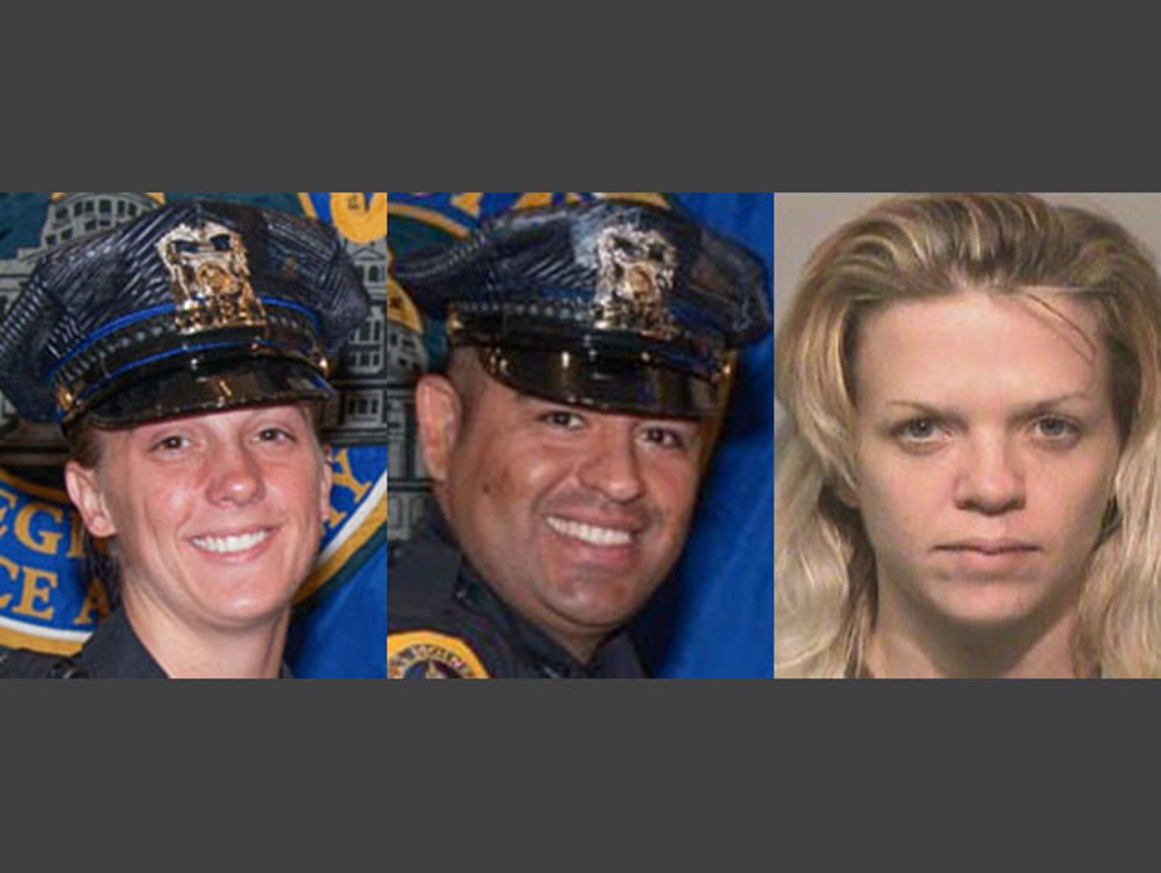 Susan Farrell (left), Carlos Puente-Morales (middle)