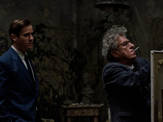 "Armie Hammer (left) and Geoffrey Rush star in ""Final Portrait."""
