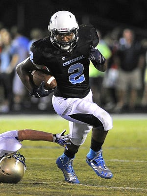 Centennial senior running back Deon Sanders committed to play football at Furman on Sunday.