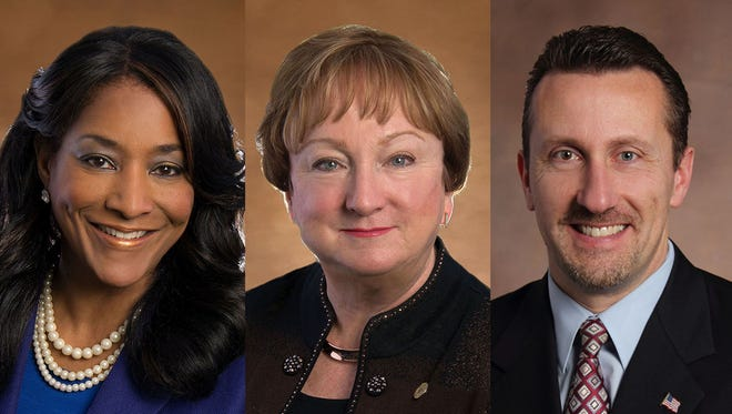 Janet Jackson, Eileen Kowall and Michael Spisz,