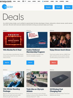 The NorthJersey.com Deals page