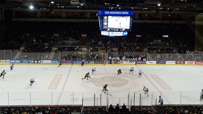 The Erie Otters host the Oshawa Generals on Feb. 15, 2020, at Erie Insurance Arena.