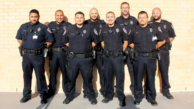 """Eight members of the Corpus Christi Independent School District police department participated in """"No Shave November,"""" and donated money to various cancer awareness organizations."""