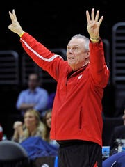 Wisconsin Badgers head coach Bo Ryan watches during