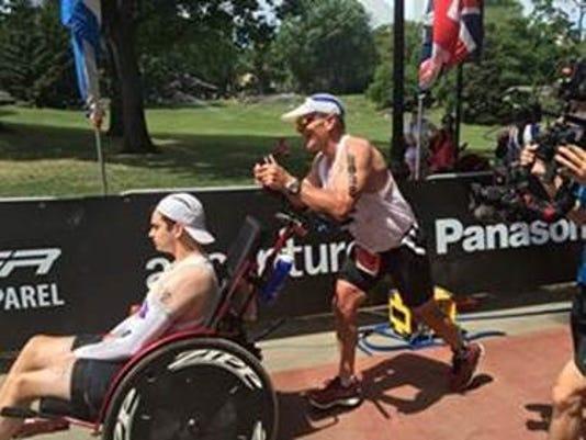 David and Blake Ferrell, NYC Triathlon