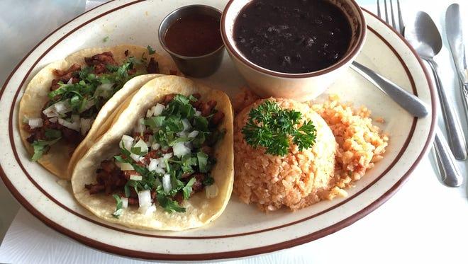 The tacos al pastor at Rosita's Cocina Original Mexican Food. The restaurant also serves fish, carnitas and carne asada tacos.
