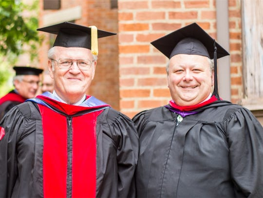Faculty at God's Bible School and College on commencement