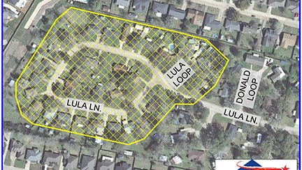 The water boil advisory issued for the Lula Lane area shown in yellow has been lifted.