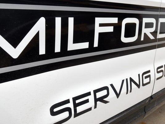 Milford police door