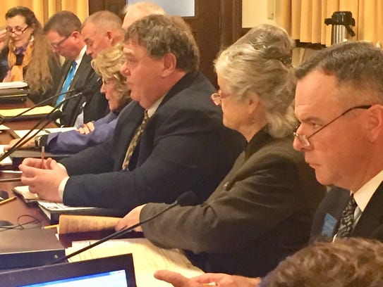 Lawmakers are joined Monday by state staff as the special