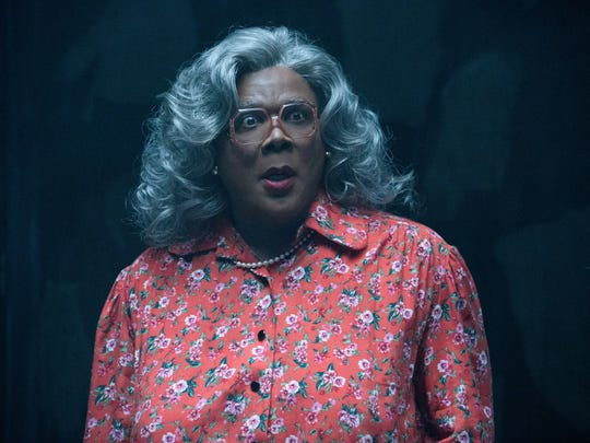 """Tyler Perry is back as Madea in """"Tyler Perry's Boo 2! A Madea Halloween."""" It opens in theaters Oct. 20."""