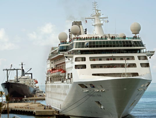 Hurricane Irma First Cruise Ship Since The Storm Docks In Key West - Docked cruise ship