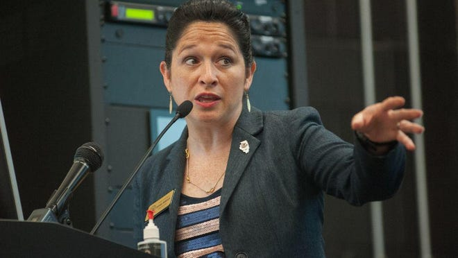 """State Comptroller Susana Mendoza, shown in 2017, predicts """"the most challenging (budget) year that I've had to manage as comptroller."""""""