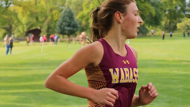 Halle Huhnerkoch competed for the Rabbits in a triangular meet with GFW and Springfield/CM.