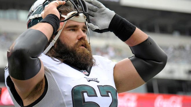Eagles center Jason Kelce has started every game he has played in since joining the Eagles in 2011.
