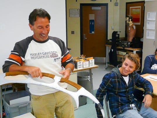 Stuntman visits Delaware Valley Regional High School