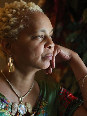 Tracy Dardie-Clay, mother of Ajonte Dardie, reflects on her son's death at her home in Cuyahoga Falls.