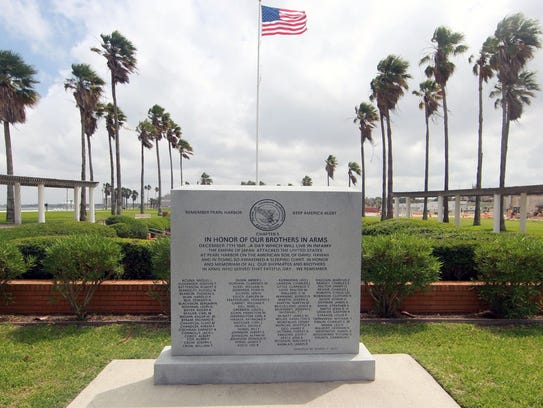 A Pearl Harbor memorial is located at Sherrill Park