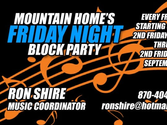 Mountain Home's Friday Night Block Party logo