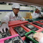 Making iPhones in China in 2010.
