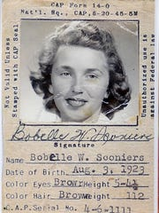 Bobelle W. Harrell posthumously received the Congressional Gold Medal for her service as a pilot in the Civil Air Patrol during WWII. Harrell's daughter, Tracy Harrell Ward, attended the ceremony on behalf of her mother on December 10 in Washington.