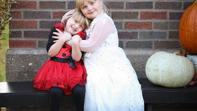 Kenzie the little lady bug and Kaylee as Elsa from Frozen 2 enjoyed Halloween at the College Avenue Presbyterian Church Harvest Party. Parents of the girls are Melinda and Josh Galbreath of Aledo and grandparents are Linda and Gail Morrow and Jacque and Russ Galbreath. Photos were taken at the Harvest Fest by Randy Slater.