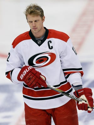 Carolina Hurricanes forward Eric Staal has nine goals and 30 points this season.