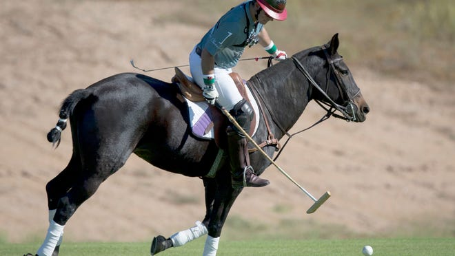 Ricky Cooper of the Clogau Wales Polo Team was one of the many polo players showcasing their skills this weekend at the Bentley Scottsdale Polo Championships .